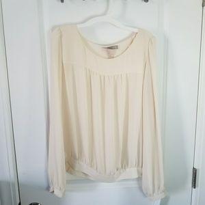 Large love21 ivory blouse, like new